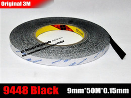 Wholesale rolls mm meters M Double Face High Adhesion Adhesive Black Tape for Home Appliance Control Panel Car Parts Screen Fix