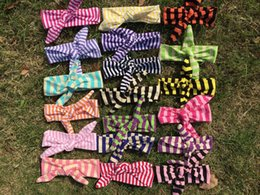 Wholesale Mix colors RANDOM DELIVERY knotted baby headband top baby girl bow knot head bands boutique knitted kids headband knit hair bands n901