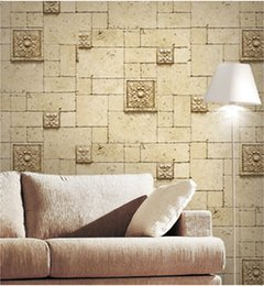 Wholesale 3D Antique Modern Vintage Brick Stone wall stickers Carving Designers Wall Paper Unique Style Wall tile Wallpapers Home decor