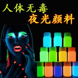 Wholesale Face Body Paint Oil Painting Art Make Up The Luminous Pigment Luminous Body Paint Luminous Acrylic Paint Water Painted Skin