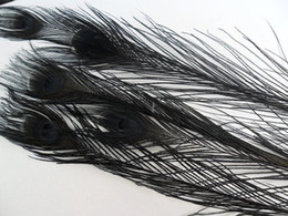 Wholesale 100 pcs 10-12inch black peacock feather for wedding decor hat decor party event supply decor
