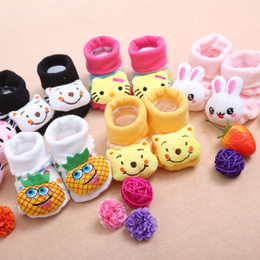 24 Style Lovely Cute Newborn Baby Socks Animal Cartoon Doll Infant Socks Model Anti-slip Boys Girls Socks