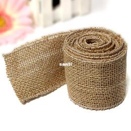 Wholesale Fashion Hot x6cm Natural Vintage Jute Hessian Burlap Ribbon Rustic Weddings Belt Strap Floristry CM Long