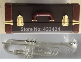 Taiwan Bach Double silver-plated AB190S Bb Artisan Collection trumpet HARD LEATHER case Top musical instruments Brass bugle