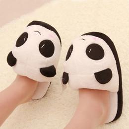 Femmes Dames Soft Cute Panda Hiver Chaud Plush Antiskid Chaussons Chaussures Accueil pantuflas pantufa PTSP supplier cute slippers shoes à partir de pantoufles chaussures mignonnes fournisseurs