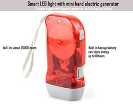 Wholesale led torch with backup battery and built in mini hand electric generator hand generator hand dynamo hand charger