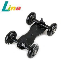 Wholesale TableTop Compact Dolly Kit Skater Slider wheel Camera Car Truck Stabilizer For DSLR Camera Camcorder