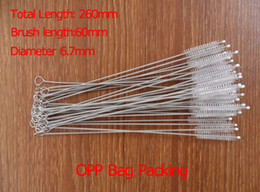 Wholesale 100Pcs MM Stainless steel wire cleaning brush Bottles Straws cleaning brush Baby Breast pump pipe brushes bombilla brush cleaner