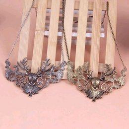 Wholesale 2015 Special Offer Gift Pendant Necklaces Middle Eastern Women s Ruby Jewelry High end Factory Direct Retro Deer Stag Necklace Sda179