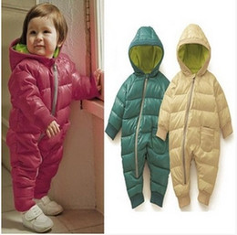 Wholesale children clothes winter baby siamese cotton padded clothes cotton padded jacket romper dandys