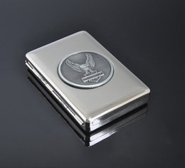 Wholesale CA16Silver metal cigarettes cantainer box case IDEAL GIFT rolling machine paper herb grinder shisha hookah bong supplier