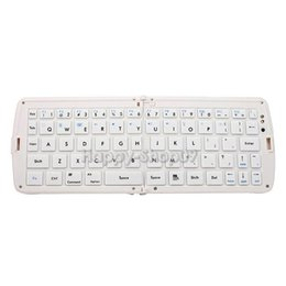 Wholesale-BUH9 Wireless Foldable Bluetooth Keyboard For Laptop Tablet Smartphone White