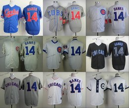 Wholesale chicago cubs ernie banks Baseball Jersey Cheap Rugby Jerseys Authentic Stitched Size