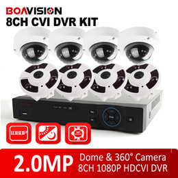Wholesale Analog High Definition HDCVI DVR System Kit CH P MP Nightvision Dome CVI Camera Fisheye Camera Panoramic Lens P2P View