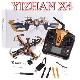 Wholesale Iron Man Yizhan Golden X4 CH G Axis Radio Control Quadcopter Model Toys Transmitter with LCD Display UFO D Flying Saucer