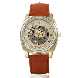 Wholesale New Fashion Skeleton Watches Luxury Leather Cheap Watches Quartz Skeleton Casual Watches Mens Women Dress Watches multicolor DHL Free