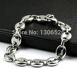Wholesale High end jewelry bracelet and more affordable Not allergic never fade Fashion coffee beans titanium steel bracelet