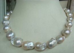 Wholesale Real Fine Pearl Jewelry huge natural mm Australian south sea white pearls necklace inch K