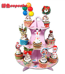 Wholesale Three layers of the birthday cake European cup cakes Wedding wedding paper snack plate