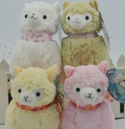Wholesale 2016 New Japanese Arpakasso Alpaca Amuse Genuine Sheep plush toy alpaca with tags high Doll colors Toy cm plush doll toy