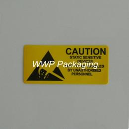 Etiquette électronique à vendre-DHL 5000pcs / Lot Adhésif Avertissement Étiquette Rappel Attention Autocollant ESD statique Sensitive Device Electronic Components chipest, PCB