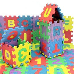 Wholesale children mini EVA Foam Alphabet Letters Numbers Floor Soft Baby Mat d puzzle Kids Educational toys
