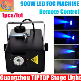 Wholesale Freeshipping Sample W Led Smoke Machine mm Bule Leds Smoke Coverage ft cu min Fog Oil Tank Capacity L Remote