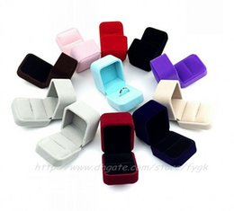New Velvet Ring Box Multi colors Romantic Wedding Velvet Ring brooch Box Jewelry Display Gift Case