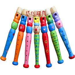 Toddler Kids Art Developmental Wooden Flute Whistle Musical Instrument Toys