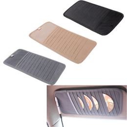 Wholesale 12pcs Disks Car CD Holder Auto Visor DVD Disk Card Case Clipper Bag Car Styling Interior Organizer Cover stowing tidying K1566