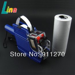 Wholesale High Quality line Price Label Labeller Gun Retail Store Pricing Tag Display with Spare Ink Double Row Paper For MX