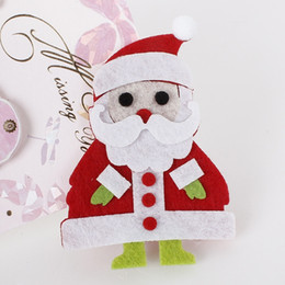 2015 Baby Girls Christmas Gift Santa Claus 20pcs lot Hair Clips Bestseller Felt Hair Clips Red and Rose Barrettes Christmas Father Hairpins
