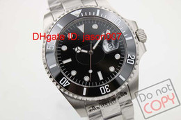 Wholesale Luxury Brand Mens Sapphire Glass Black Dial Stainless Steel SUB Inner Bezel Engraving Mens Watch Men Watches