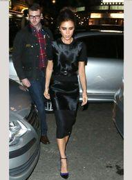 Wholesale new victor beckham style Flash cotton dress dresses package hip was thin women dress Size S XL
