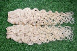 Hot # 60 Platine Blonde Vierge Cheveux Brésiliens Humains 100G Grade 7a Non Traité Virgin Brazilian Body Wave Hair Weave Bundles 7a grade virgin brazilian hair bundles on sale à partir de grade 7a vierges faisceaux de cheveux bresilien fournisseurs