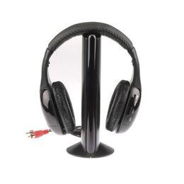 Hot Selling 5 in 1 Hi-Fi Wireless Earphone Headphone For FM Radio MP3 CD PC TV Free Shipping