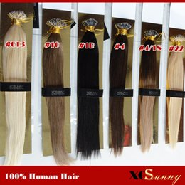Wholesale XCSUNNY Nano Loop Malaysian Human Hair Extension g pk beads g s Nano Ring Remy Hair Extensions Nano Tip Hair Extensions