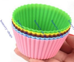 Wholesale Hot Sale Round shape Silicone Muffin Cases Cake Cupcake Liner Baking Mold