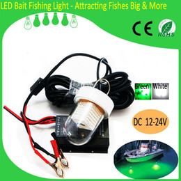 12V Underwater Green LED Fishing Fish Light Snook Light Night Fishing Decorative Dock Light 60W 90W White Green Blue Yellow