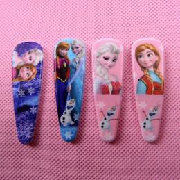 Fille accessoires pour cheveux clips à vendre-Hot Sale Frozen Elsa Anna bande dessinée hairpins filles enfants accessoires cheveux princesse Elsa Anna pinces à cheveux