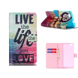 Leather PU High Quality Fashion Flower Balloon Painting Leather Case Stand Case For Huawei P8Lite P8 Lite P8 mini