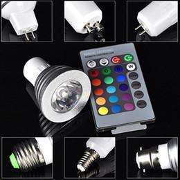 Proyector GU10 E27 E14 MR16 de la luz del punto de la lámpara de la alta tecnología LED del color de 3W RGB LED teledirigido desde focos de colores proveedores