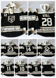 Factory Outlet, Old Time LA Los Angeles Kings Hockey Hoodies 12 Marian Gaborik 23 Dustin Brown 32 Quick Hoodie 220