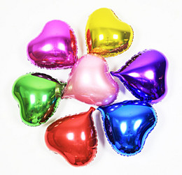 Wholesale 20PCS inch Heart shaped Helium Aluminum Foil Balloon wedding birthday Holidays Party Supply Decoration Supplies
