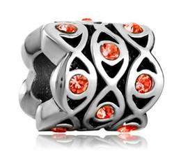 10pcs per lot metal Material With Rhodium Plating Crystal Rhinestone Evil Eye Charm Bead For Pandora Bracelet