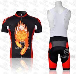 Wholesale best sale monton team cycling jersey mountain road wear short sleeve bib sets good quality