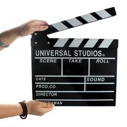 Wholesale Large Wooden Director Video Scene Clapperboard Film Movie Clapper Board Wedding Party Record
