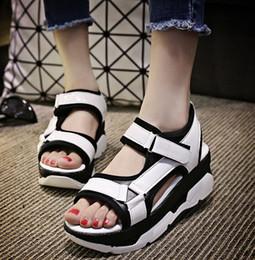 Brand new Fashion Women shoes European style sandal flats Shoes Flat Sandals Casual shoes Color matching Platform shoes flip flops A002S