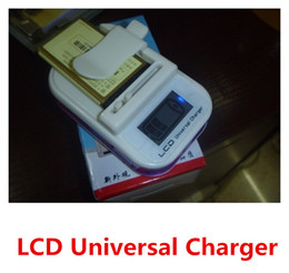 Wholesale Best Quality Enhanced New LCD Display Universal charger US Plug Adapter with usb Port For Mobile Phone Battery Power converter