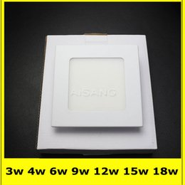 20PCS DHL FREE SHIPPING High power Led Panel Light SMD2835 3W 4W 6W 9W 12W 15W 18W 85-265v Led Ceiling Bulb lamp spotlight downlight